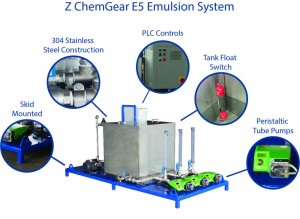Emulsion make down system fabricated for a mining operation in Mexico. This video illustrates Zeroday Enterprises Z ChemGear E5 Emulsion Systems. For more information visit our website: www.ZerodayLLC.com.
